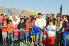 Inaugura Santa Catarina espacio deportivo en Hacienda El Palmar para beneficio de más de 4 mil 700 vecinos