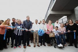 Inauguran Puente Peatonal Atirantado UANL-Anáhuac en San Nicolás