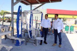 Registra 70 por ciento de avance espacio deportivo en Balcones de Santa Catarina