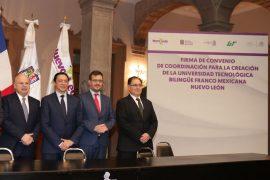 Concretan autoridades convenio para la creación de la Universidad Tecnológica Franco-Mexicana