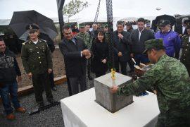 Inicia en Apodaca construcción de la Preparatoria Militarizada